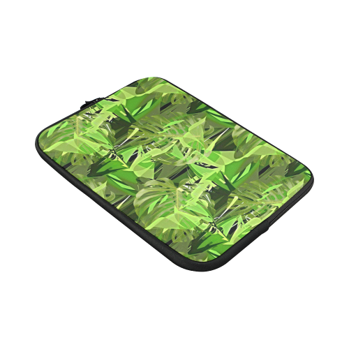 """Tropical Jungle Leaves Camouflage Custom Sleeve for Laptop 15.6"""""""