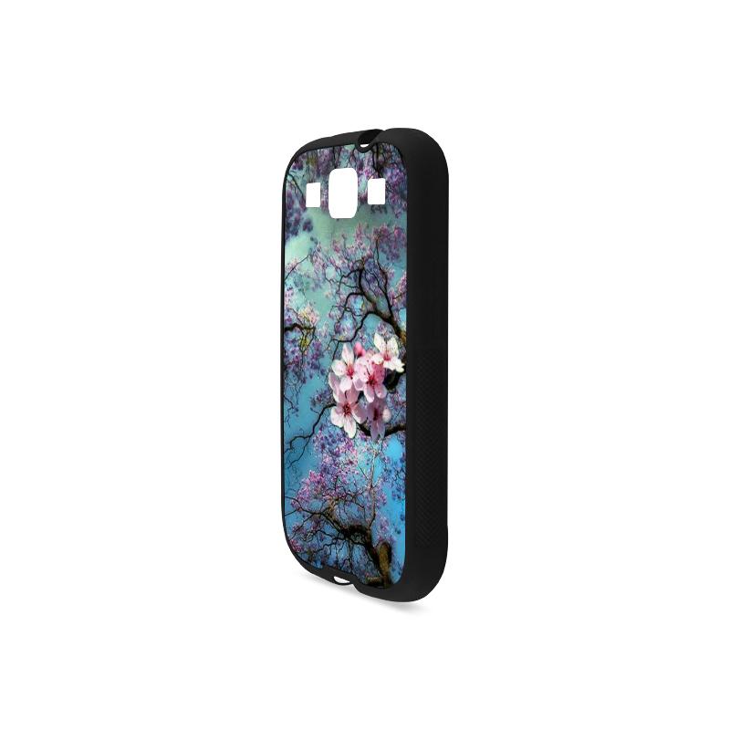 Cherry blossomL Rubber Case for Samsung Galaxy S3