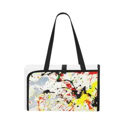 Black, Red, Yellow Paint Splatter Portable & Foldable Mat 60''x78''