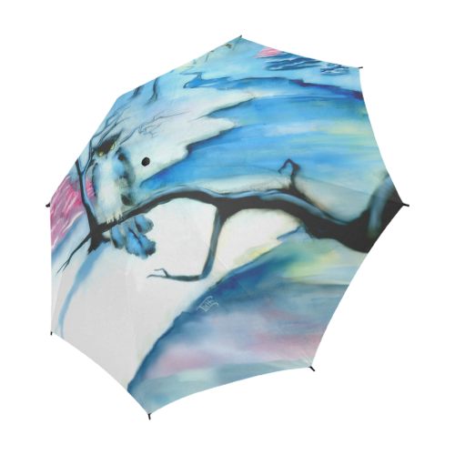 Winterwood Owls Semi-Automatic Foldable Umbrella (Model U05)