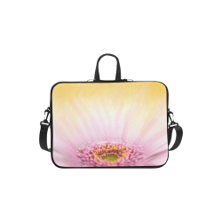 Gerbera Daisy - Pink Flower on Watercolor Yellow Macbook Air 11''
