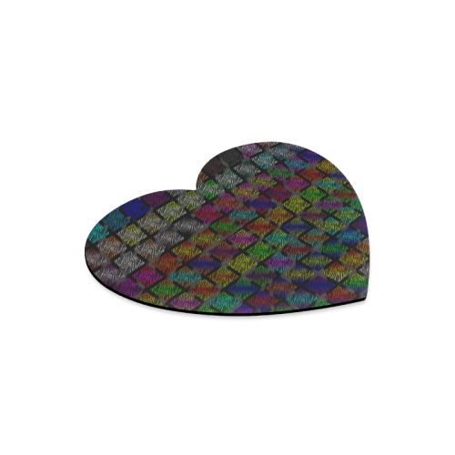 Ripped SpaceTime Stripes Collection Heart-shaped Mousepad
