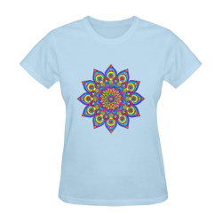 Brilliant Star Mandala Blue Sunny Women's T-shirt (Model T05)