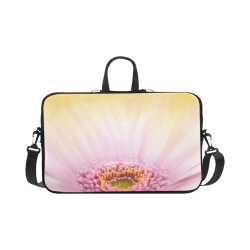 Gerbera Daisy - Pink Flower on Watercolor Yellow Macbook Pro 17""