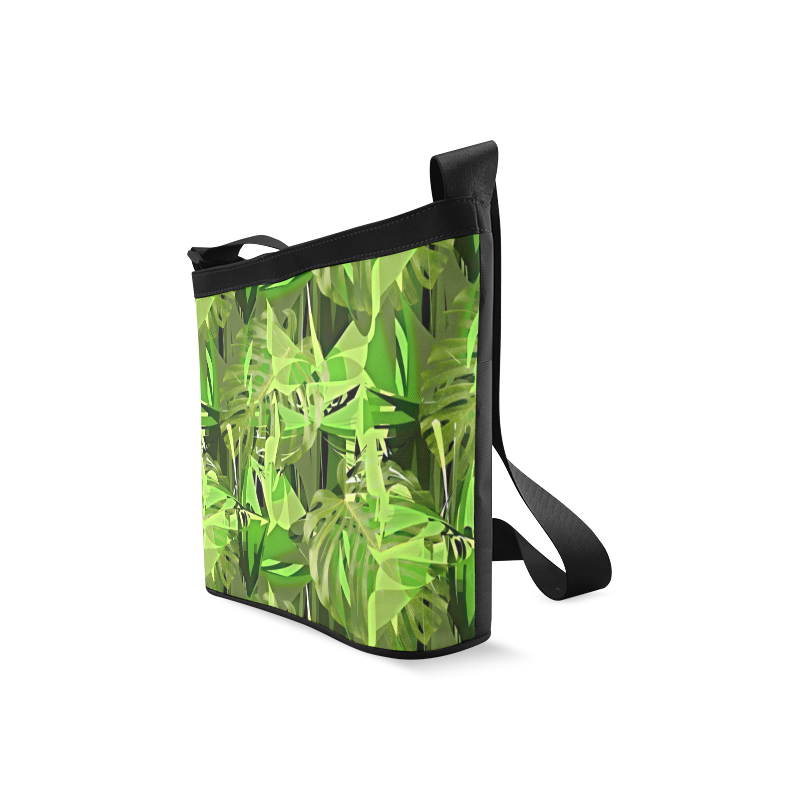 Tropical Jungle Leaves Camouflage Crossbody Bags (Model 1613)