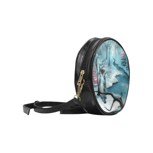 Winterwood Owl Round Sling Bag (Model 1647)