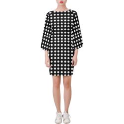 White Bubbles Bell Sleeve Dress (Model D52)