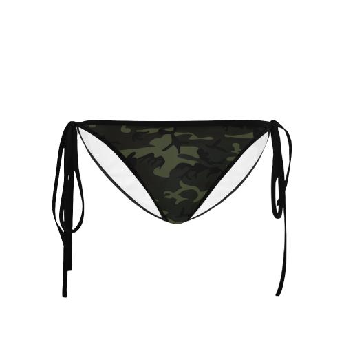 Camo Green Custom Bikini Swimsuit Bottom