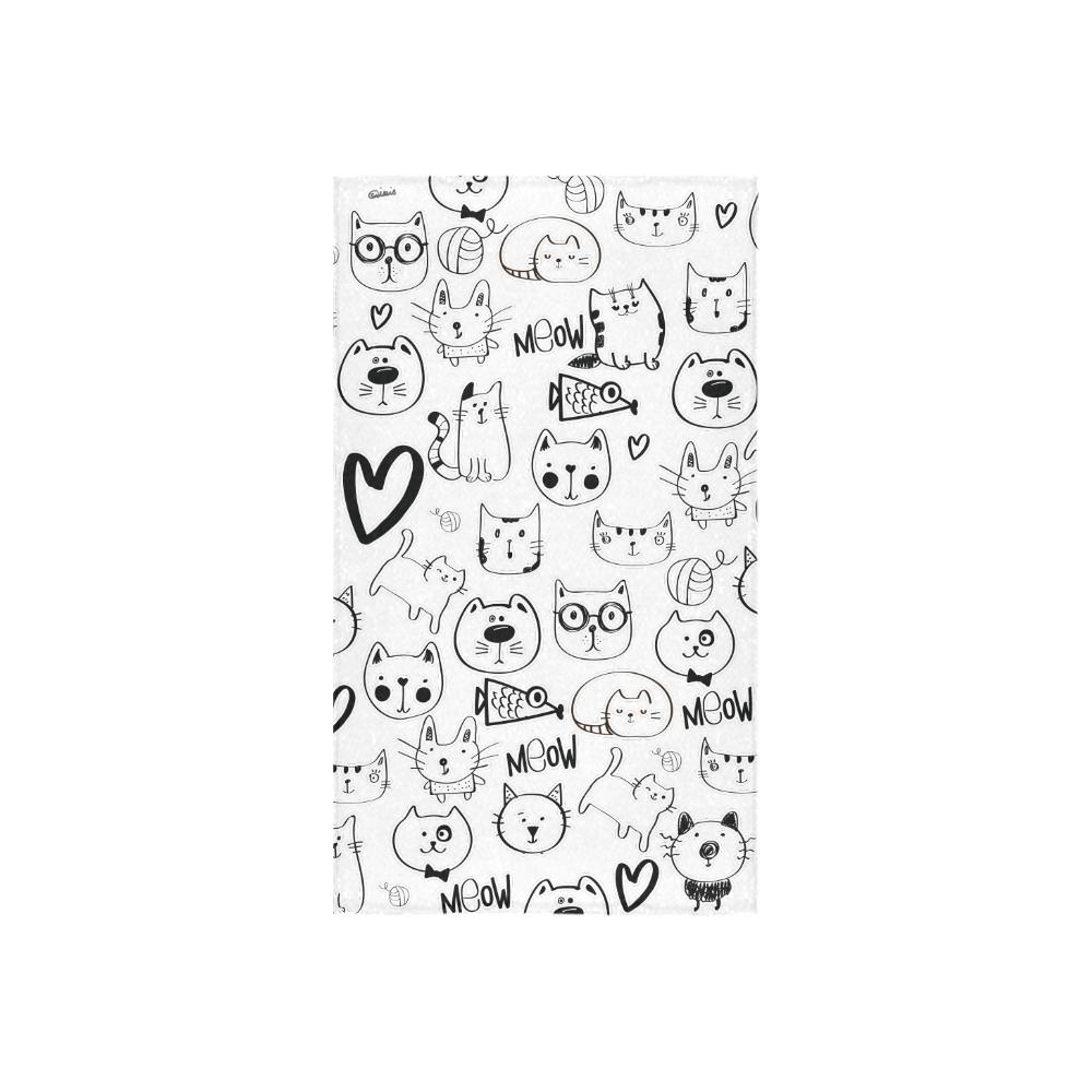 "Meow Cats Custom Towel 16""x28"""