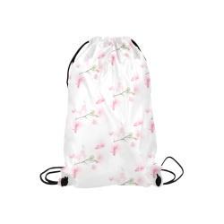 """PATTERN ORCHIDÉES Small Drawstring Bag Model 1604 (Twin Sides) 11""""(W) * 17.7""""(H)"""