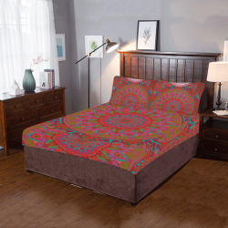 boho mandala 10 vneck back 3-Piece Bedding Set