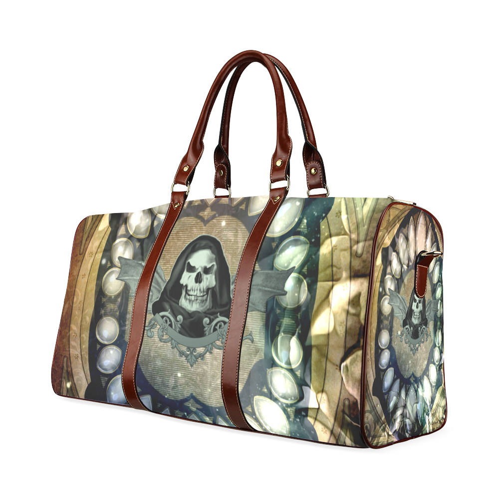 Awesome scary skull Waterproof Travel Bag/Large (Model 1639)