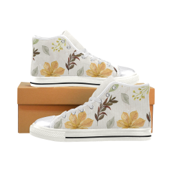 Fall Art Shoes, Autumn Leaves Women's Classic High Top Canvas Shoes (Model 017)