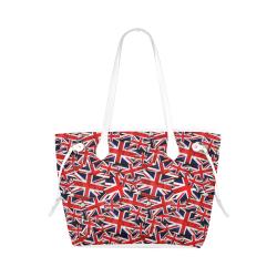 Union Jack British UK Flag - White Clover Canvas Tote Bag (Model 1661)