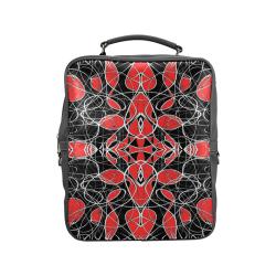 bw fantasy red Square Backpack (Model 1618)