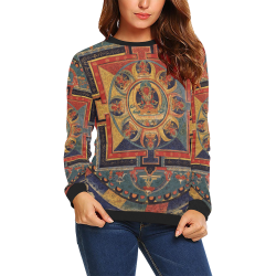 Protection, by Ivan Venerucci Italian Style All Over Print Crewneck Sweatshirt for Women (Model H18)