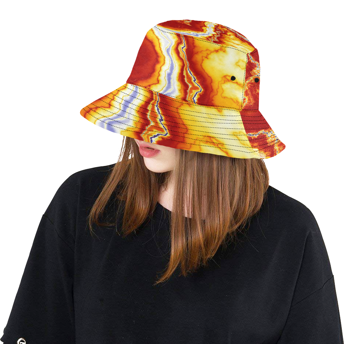 Marble Geode All Over Print Bucket Hat
