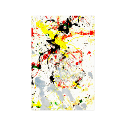 "Black, Red, Yellow Paint Splatter Poster 20""x30"""