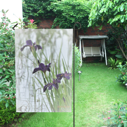 Black Gamecock Iris Garden Flag 12''x18''(Without Flagpole)