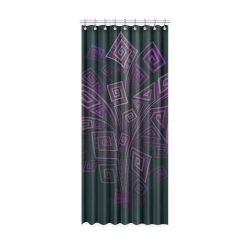 """Psychedelic 3D Square Spirals - purple Window Curtain 52"""" x 120""""(One Piece)"""