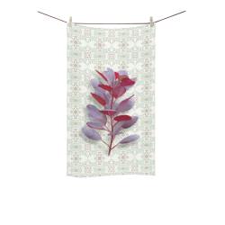 "Red plant floral watercolor Custom Towel 16""x28"""