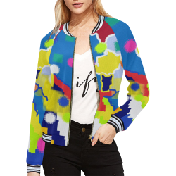 CONFETTI NIGHTS 4 All Over Print Bomber Jacket for Women (Model H21)