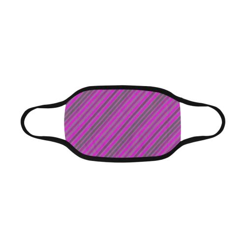 pink violet diagonal lines Mouth Mask