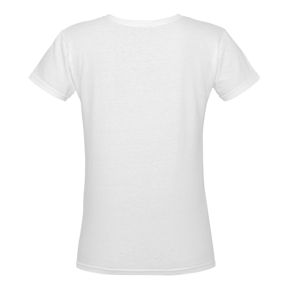 When life gives you lemons Women's Deep V-neck T-shirt (Model T19)