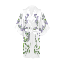 Purple tiny flower with shadow - floral watercolor Kimono Robe