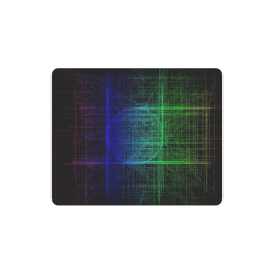 Blue and Green Retro Glitch Rectangle Mousepad