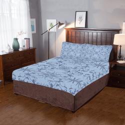 Blue damask 3-Piece Bedding Set
