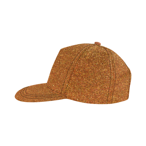 Sparkly Gold Glitter All Over Print Snapback Hat D