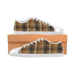 TARTAN DESIGN Women's Canvas Shoes (Model 016)