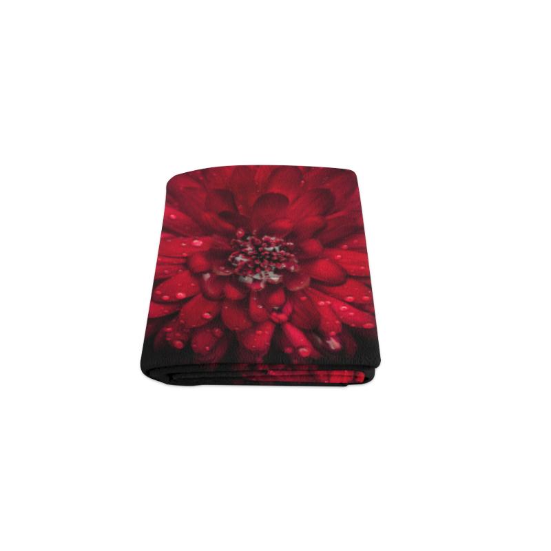 "Backyard Flowers 45 Color Version Blanket 40""x50"""