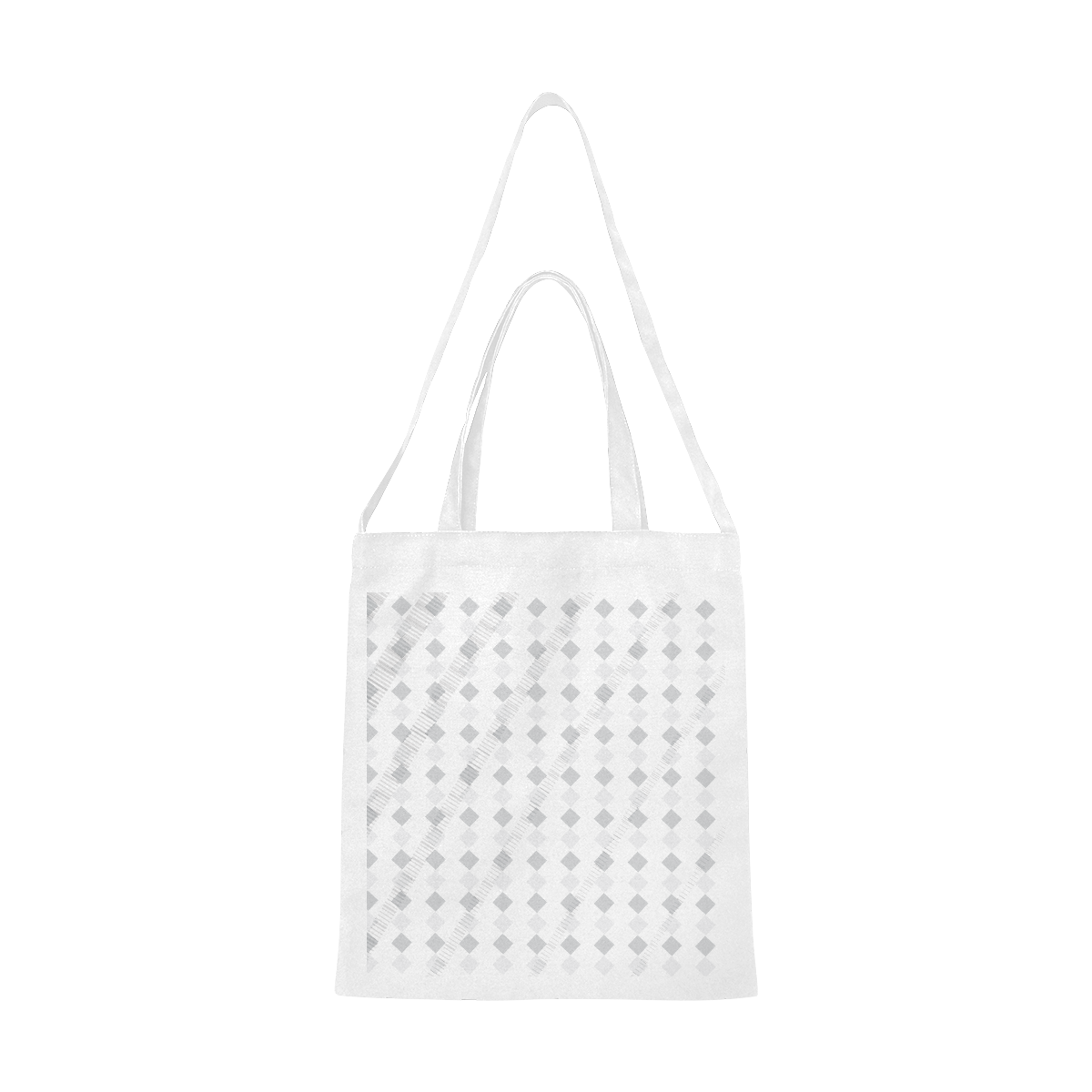 Checker bag Canvas Tote Bag/Medium (Model 1701)