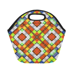 colorful geometric pattern Neoprene Lunch Bag/Small (Model 1669)
