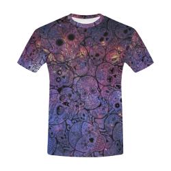Cosmic Sugar Skulls All Over Print T-Shirt for Men (USA Size) (Model T40)