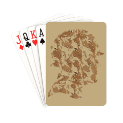 """Desert Camouflage Soldier on Brown Playing Cards 2.5""""x3.5"""""""