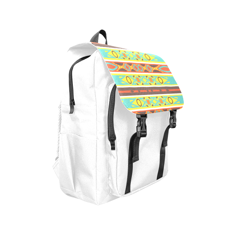Ovals rhombus and squares Casual Shoulders Backpack (Model 1623)
