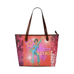 Fairlings Delight's Pop Art Collection- Disco Retro 53086 Shoulder Tote Bag (Model 1646)
