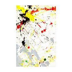 "Yellow & Black Paint Splatter Poster 22""x34"""