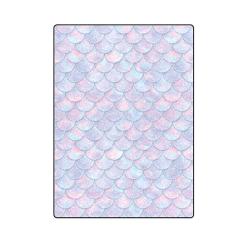 """Mermaid Scales Blanket 58""""x80"""""""