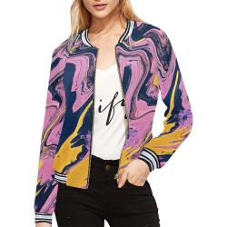 YBP All Over Print Bomber Jacket for Women (Model H21)