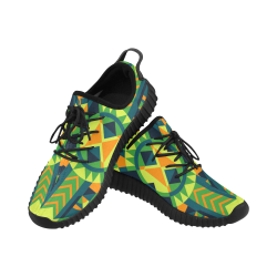 Modern Geometric Pattern Grus Men's Breathable Woven Running Shoes (Model 022)