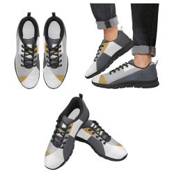 Espacios grises Men's Breathable Running Shoes (Model 055)