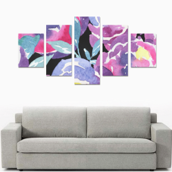 Abstract Watercolor Floral Canvas Print Sets B (No Frame)