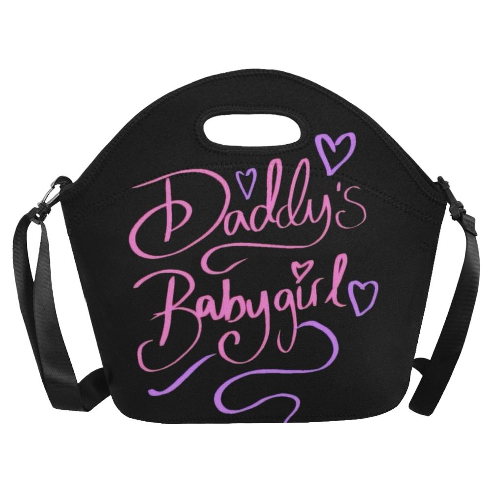 Daddy's Babygirl Neoprene Lunch Bag/Large (Model 1669)