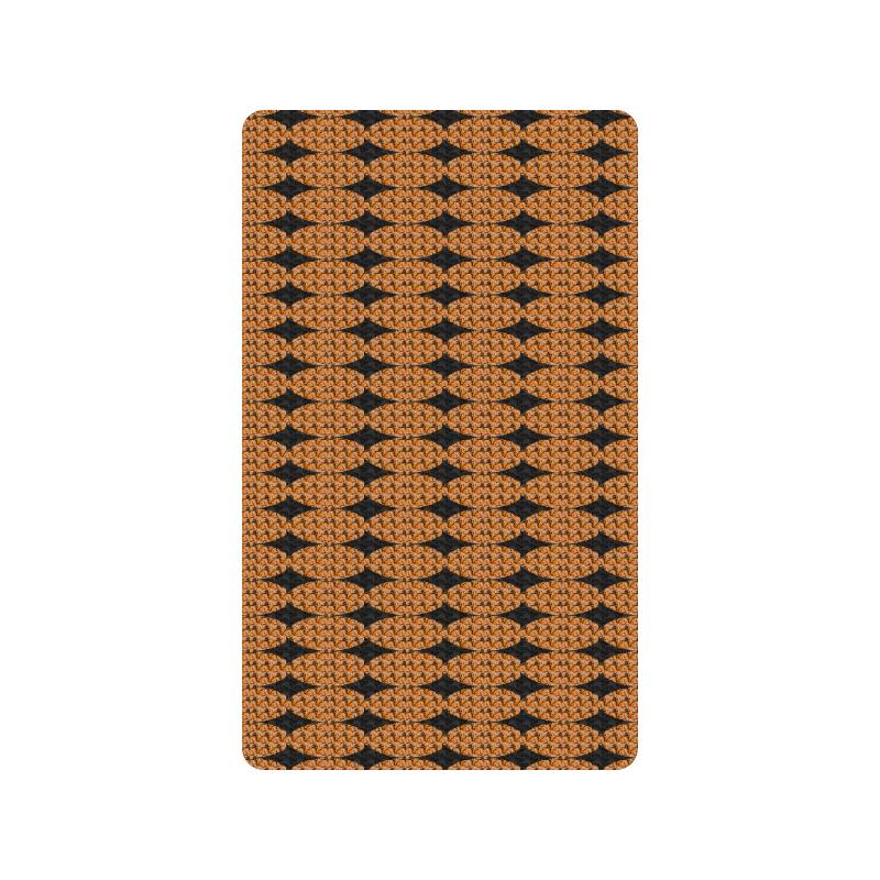 "Harlequin Diamond Mod Tan Black Doormat 30""x18"""