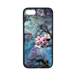 Cherry blossomL Rubber Case for iPhone 7 4.7""