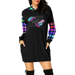 MUA Long Womens Hoodies All Over Print Hoodie Mini Dress (Model H27)